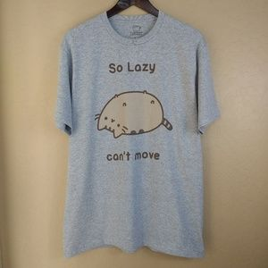 Pusheen So Lazy Can't Move Graphic Tee